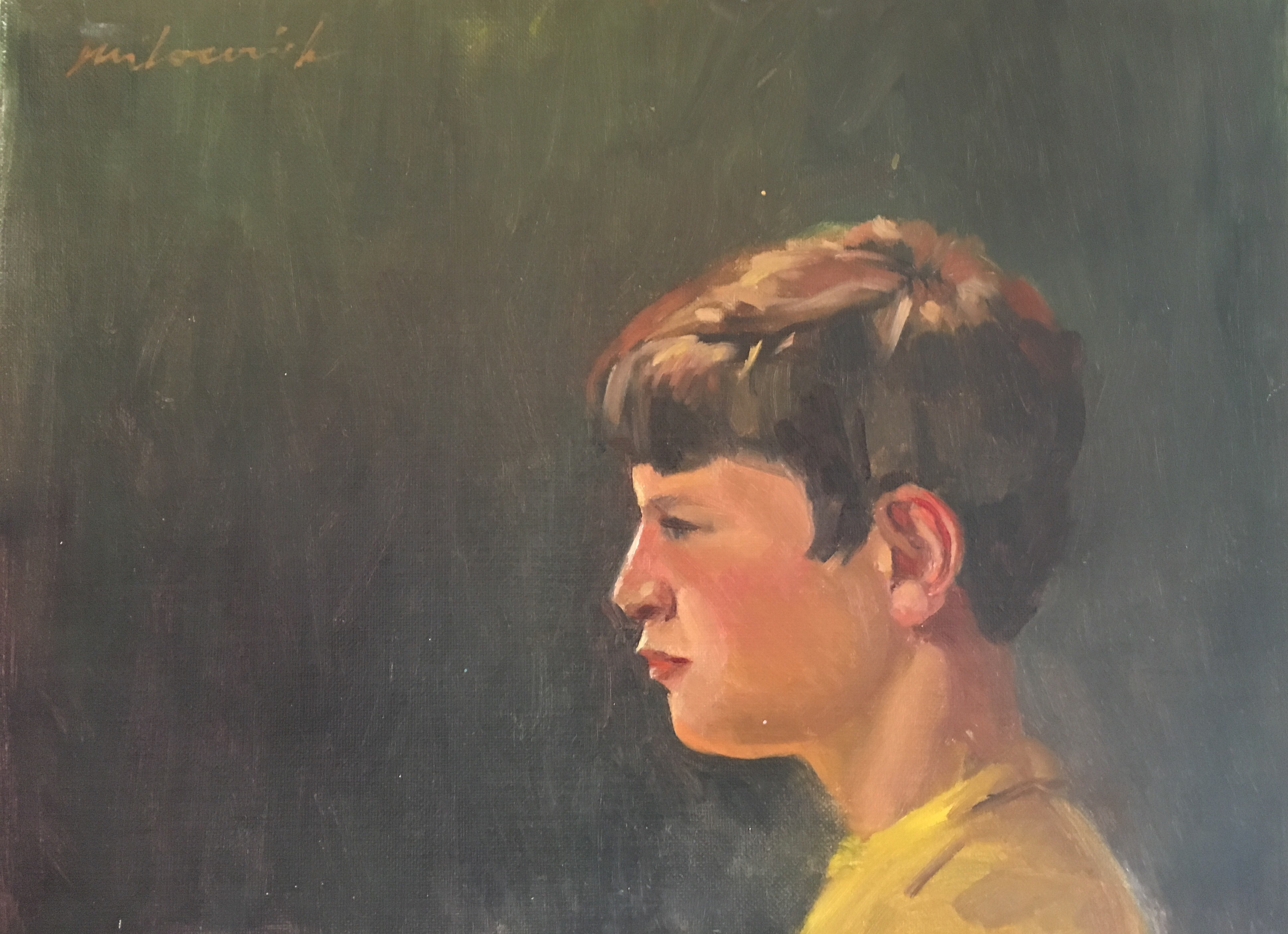 Boy in Yellow T-Shirt - Portraits