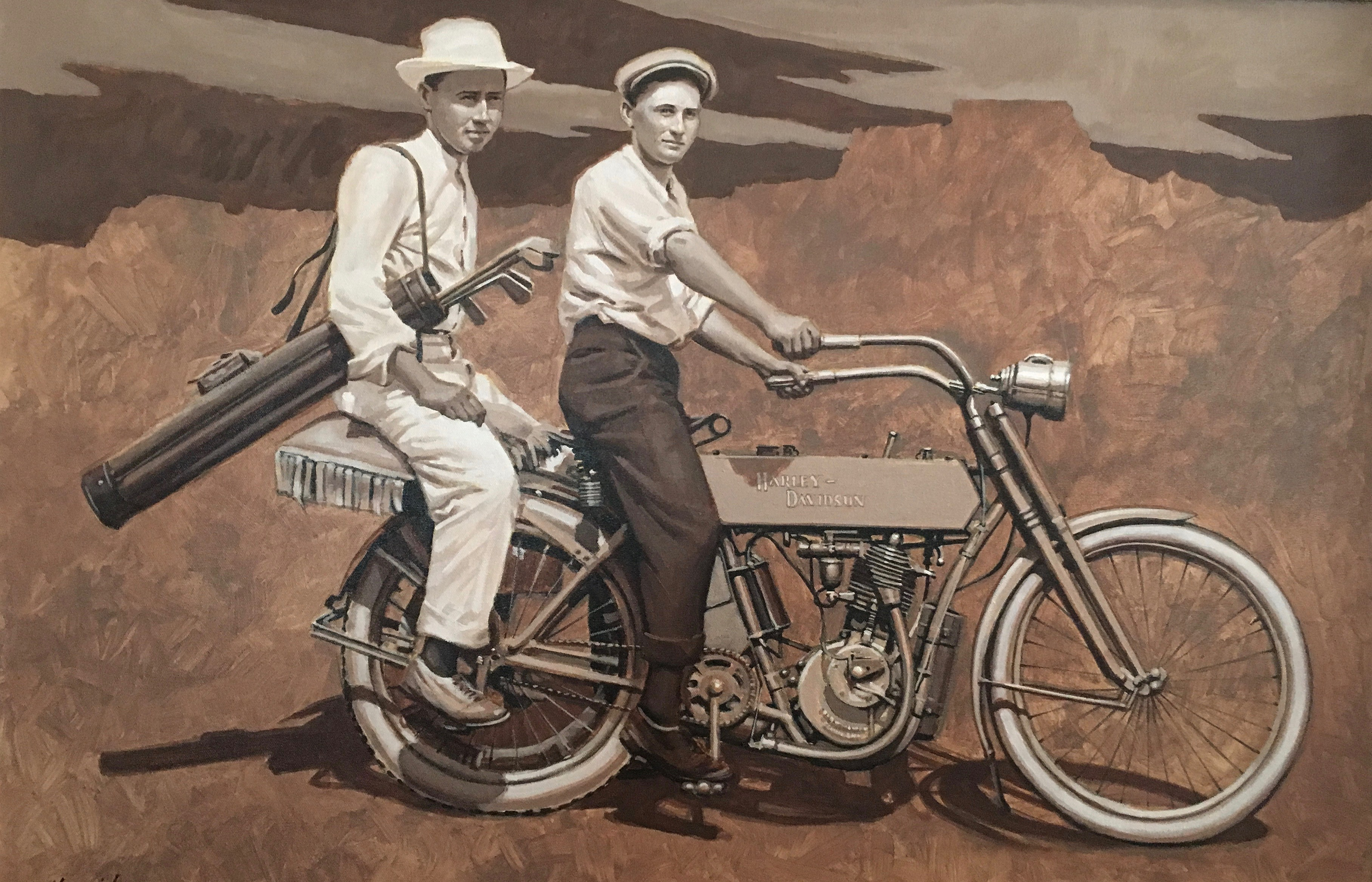 1910 Harley - Golf Art