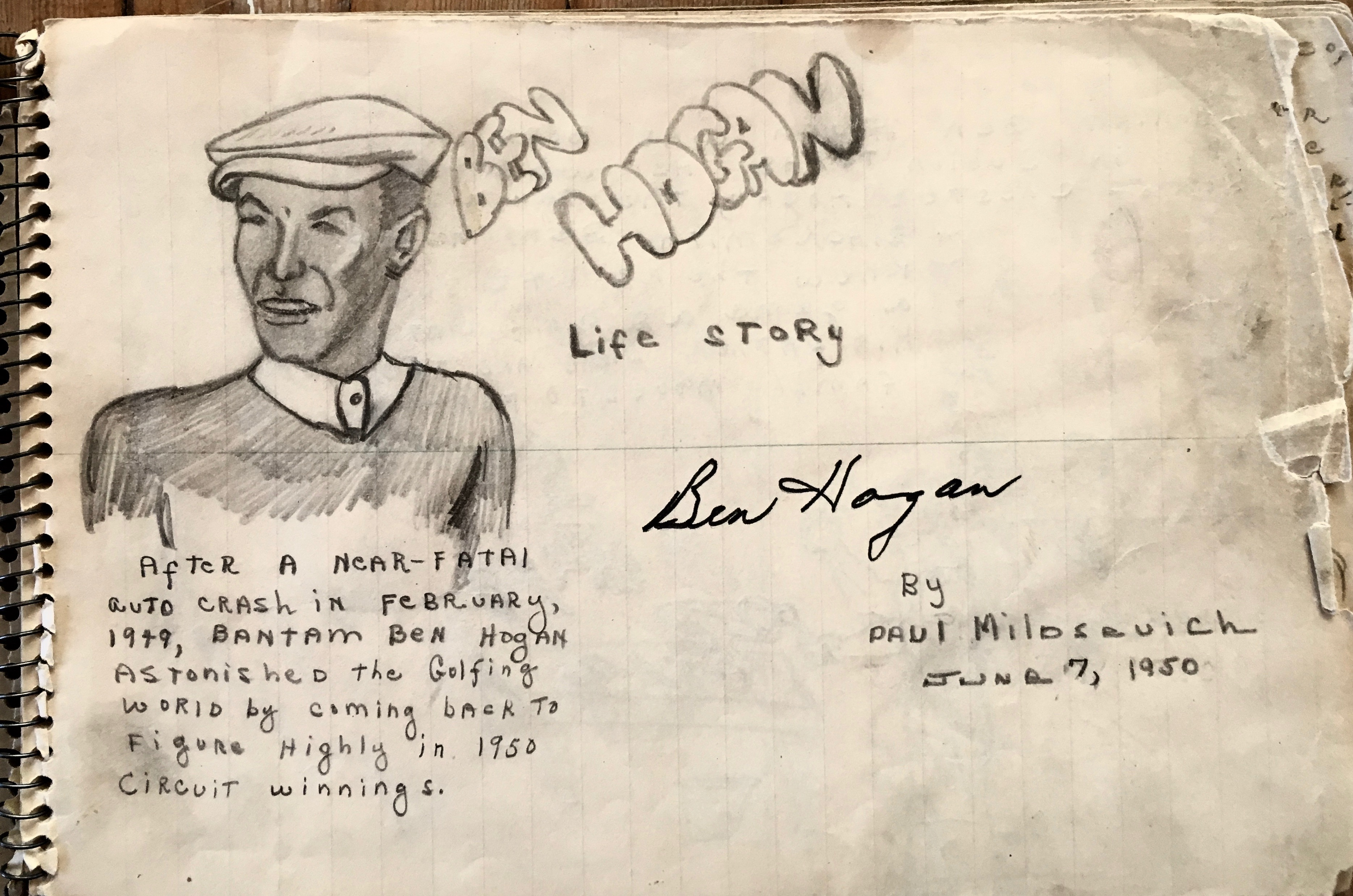 1950 Ben Hogan Life Story - Golf Art