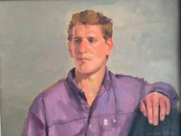 Man in Purlple Shirt