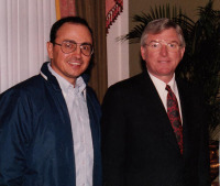 With former Texas Governor Mark White